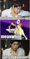 when kyu is late by Reishicolleen