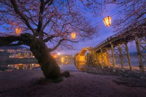 Kintai Bridge by porbital