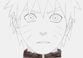 Naruto without headband by Kello7