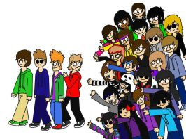My eddsworld friends and I by amythystanime