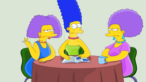 THE SIMPSONS - Bouvier Sisters (Color) by JackoWcastillo