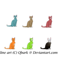 Free Feline Adoptables -Closed- by EmptyGifts