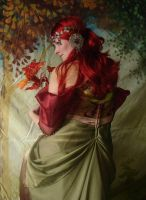 Autumn Mucha Portrait 1 by mizzd-stock