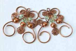 Twisted Wire and Spiral Earrings by SRTolton
