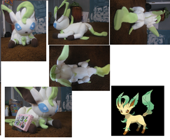 Leafeon Plush by Capistrono2