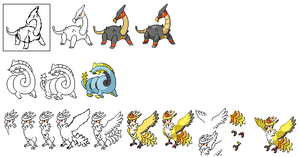 How I sprite pokemon batle sprites by Kyle-Dove