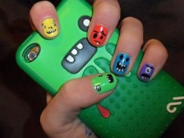 Monster nails by JennyBean4u