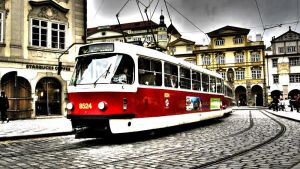 Prague tram by maikelzgza