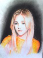 drawing of ChloeGraceMoretz by colored pencils by fantafiction