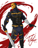 Deathstroke Redesign 2 by TheoDJ