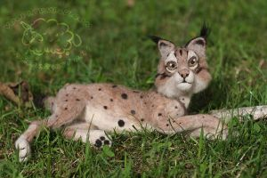 Needle felted Lynx by azu-55