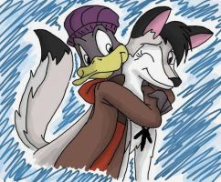 Quacklad and Tyrra in color by Da-Wabbit