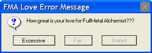 FMA Love Error Message by cturcz1234