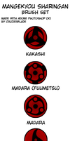 Mangekyou Sharingan Brush Set by CruzerBlade