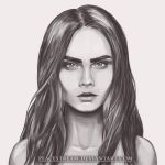 Cara Delevingne grayscale by peacestream