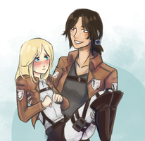 Christa and Ymir by ElizaLento