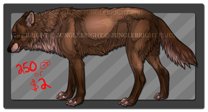 Bunny / wolf adoptable ( CLOSED ) by gothams--reckoning