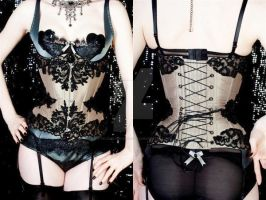 beaded corset by AtelierSylpheCorsets