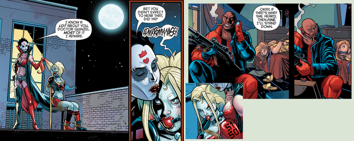 Harley Quinn ballgagged in a comic 3 by benja100