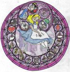 A horrible Alice Stainglass by The-Random-Child-13