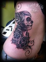 Gypsy head ribs by WildThingsTattoo