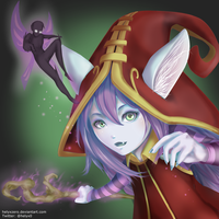 Lulu, the Fae Sorceress ~ League of Legends by helyxzero