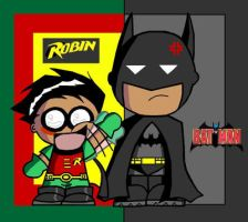 Batman and Robin by KieramelKisses