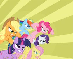 Mane 6 - angry Wallpapers by JoeMasterPencil
