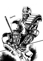 Yet another DREDD detail by PAULSWAIN