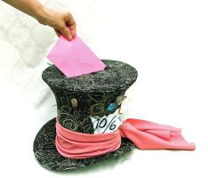Full sized Mad Hatter CARD HOLDER by TinyTopHats