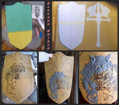Alucard's Shield: WIP, Pattern and Sculpt by Elysium-Sans