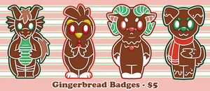 Gingerbread Badges by OEmilyThePenguinO
