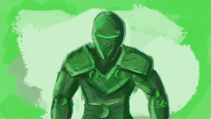Green Jaguar - Speed Paint by thegamingbook