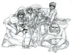Gorillaz Sketch by kamizH