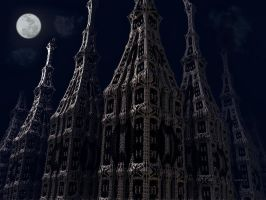Cathedral  by night by marijeberting
