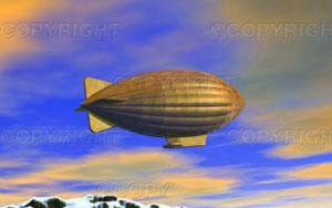 ACME Dirigible Departing by syths-cortex