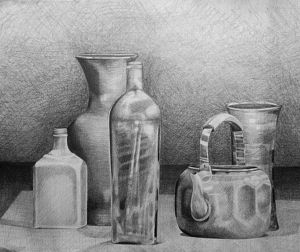 Bottles Study by darcydoll