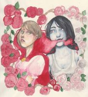 The Vampire Quine and Little Red Riding Hood by Bloodysfish