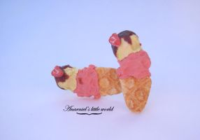 Ice cream earrings by anarniell