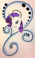Rarity Tattoo Design by Caldercloud