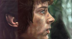 Pasteldrawing of Frodo by Valyanna8361