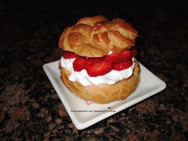 Strawberry Cream Puff. by GermanCityGirl