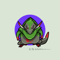 #611: The Axe Jaw Pokemon: Fraxure