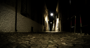 Creepy Street at Night by MeGustaDeviantart