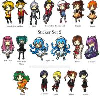 Anime LA Sticker Set 2 by Skuldchan