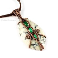 Dendritic Jasper, Green Aventurine and Copper by sylva