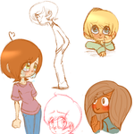 Sketchdump by lost-hearted-lover