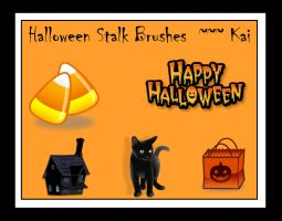 Halloween Stalk Brushes Set 2 by KaiPrincess