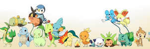Pokemon Starters by jelliechan