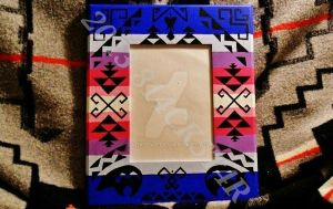 Native American Hand Painted Picture Frame by 814CK5T4R